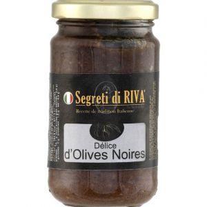 Riva Délice d'olives Noires - Le bocal de 190g