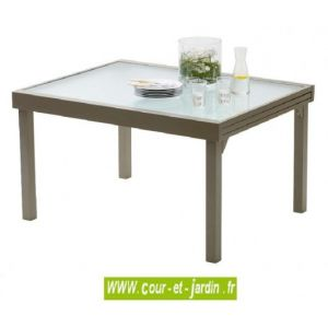 Wilsa Table de jardin Modulo 6/10 - 135/270 taupe