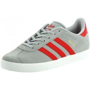 Adidas Gazelle J Chaussures de Sport Gris Rouge, EU 36 2/3