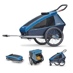 Croozer Kid Plus for 1 - Remorque vélo - gris/bleu Remorques pour enfant