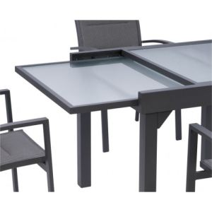 Alpina Garden Modulo 4 - Ensemble de jardin en aluminium avec 4 fauteuils
