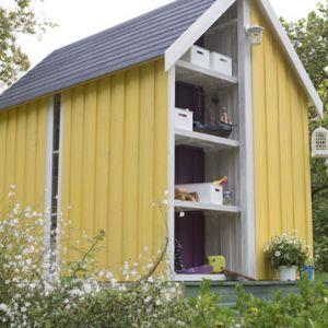 Decor et jardin Vertigo - Abri de jardin serre en bois massif 28 mm 5,34 m2