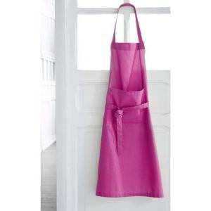 Tablier de cuisine réglable en coton tissé teint (79 x 104 cm)