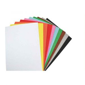 Oz international Feuilles de caoutchouc 21 x 27,5 cm effet éponge, coloris assortis - Sachet de 10