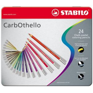 Stabilo 24 Crayons de couleur CarbOthello
