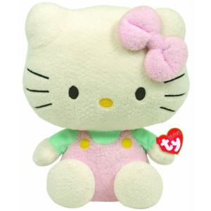 Ty Peluche Pluffies : Hello Kitty Rose T-shirt menthe 25 cm