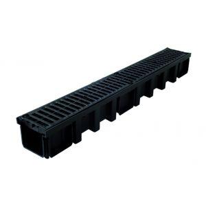 Nicoll Caniveau 1m grille polyamide B125 largeur 130 noir