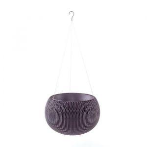 Curver Pot de fleur aspect tricot avec suspensions 36cm - Violet