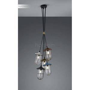 Trio Suspension 5 lampes industrielle Birte Métal 303800517