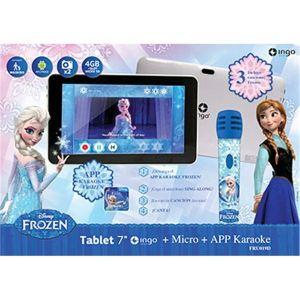 """Ingo La Reine des Neiges - Tablette tactile 7"""" 4 Go sous Android avec micro karaoké Frozen"""