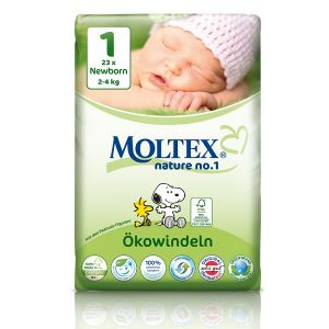 Moltex Couches taille 1 Eco-Midi (2-4 kg) - paquet de 23