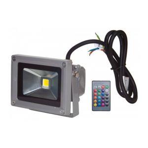 Ohm-Easy Projecteur LED 10W extérieur IP65 RVB avec télécommande