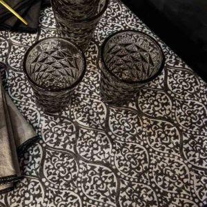 Harmony Nappe en Lin mélangé Kota charbon - 170x250 cm