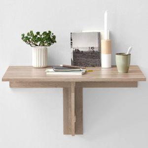FMD Möbel ARTA Table à manger pliante 1 personne classique décor chêne - L 80 x l 51 cm