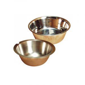 Polytrans Ecuelle eau & croquette chien & chat inox simple N4 6 Litres