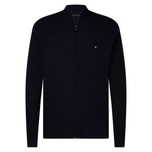 Tommy Hilfiger Gilet zippé col montant Structured Coton Bleu Marine - Taille L;M;S;XL;XXL;3XL