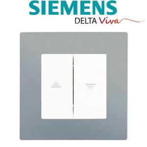Siemens Interrupteur Volet Roulant Blanc Delta Viva + Plaque Silver