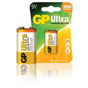 GP Ultra piles alcalines 6LF22 9V