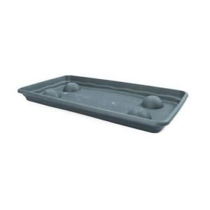 Plastiken Plateau rectangulaire - 57 X 29 cm - Anthracite