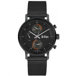 Lee Cooper Montre LC06495-650 - Bracelet Acier Milanais Noir Boitier Acier Noir Homme