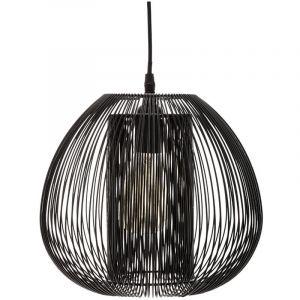 Atmosphera Suspension en métal filaire Noir H 25 cm Noda