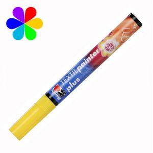 Marabu 011803019 - Marqueur pour tissu Textil Painter Plus, jaune, pointe ogive 3 mm