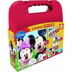 Educa 4 puzzles progressifs Mickey et ses amis (12 à 25 pièces)
