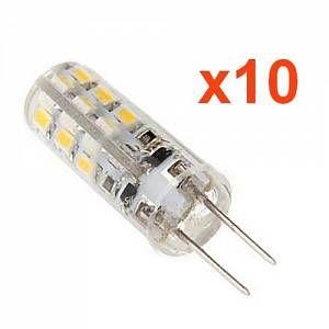 Ampoule LED G4 2W 12V SMD2835 24LED 360 (Pack de 10) - couleur eclairage : Blanc Chaud 2300K - 3500K