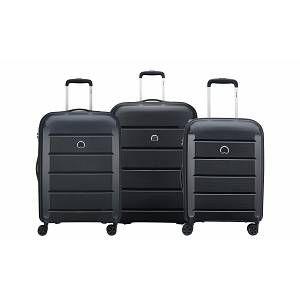 Delsey Valise trolley : Binalong / Set de 3 valises / Noir