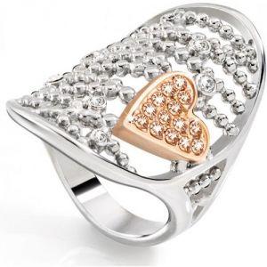 Morellato Sada090 - Bague coeur en cristal et argent