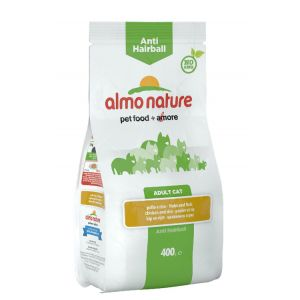Image de Almo Nature Chat Anti Hairball Poulet et riz 400 grs