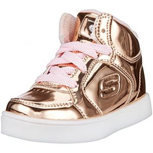 Skechers Energy Lights-Lil Dazzle, Baskets Bébé Fille, Rose (Rose Gold), 21 EU