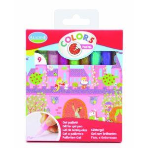 Aladine 9 tubes gel pailleté Pastel