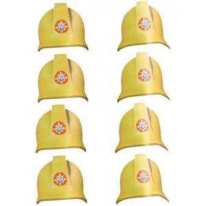 8 chapeaux en carton Sam le Pompier