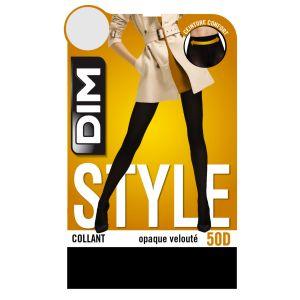DIM Collant Femme Noir Opaque Velouté 50d T3/4 - Le Collant