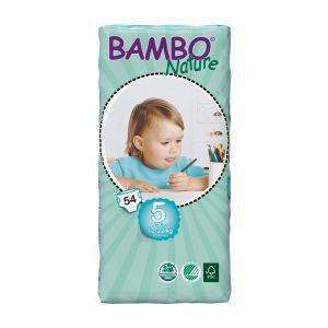 Bambo Nature Couches écologiques taille 5 Junior 12-22 kg - paquet de 54