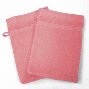 Lot de 2 gants de toilette 100% coton Vitamine 15x21 cm dragée