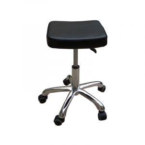 Eyepower Tabouret de Travail MST-408 chaise pivotante 360° réglable en hauteur siège rembourré avec roulettes   poids supporté 120 kg   idéal pour coiffeur esthéticien cabinet médical   noir