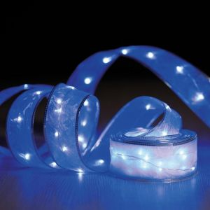 Ruban guirlande lumineuse 100 micro LED - 5 m de lumière fixe bleu
