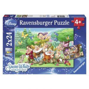 Ravensburger 2 puzzles Blanche Neige et Les 7 Nains (24 pièces)