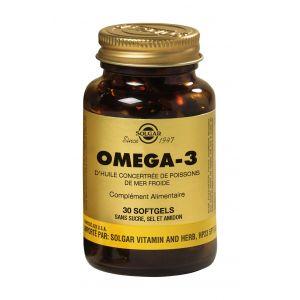 Solgar Omega 3 d'huile concentrée de poisson de mer froide