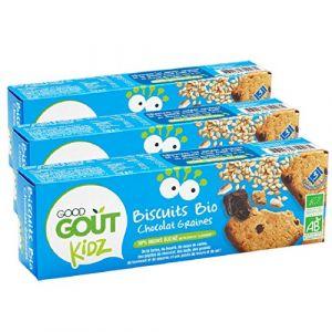 Good Goût Kidz Biscuits Chocolat Sésame Tournesol dès 3 Ans 110 g - Lot de 3