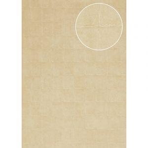 Atlas Papier peint aspect pierre carrelage INS-0805-5 papier peint texturé gaufré avec des figures géométriques satiné crème beige blanc crème 7,035 m2