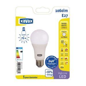 Xavax High Line LED Lampe E27 12 5W warmweiß