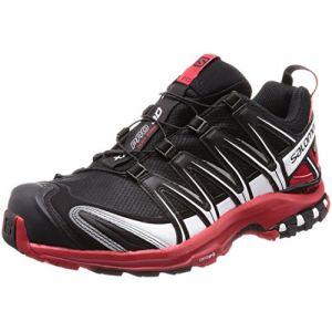 Salomon XA Pro 3D GTX - Chaussures - Homme - Noir (Black/Barbados Cherry/White 000) - 43 1/3 EU