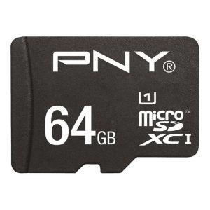 PNY SDU64G10HIGPER80-EF - Carte mémoire MicroSDHC 64 Go High Class 10 UHS-I