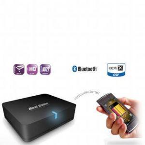 Real Cable IPLUG-BTR - Adaptateur Bluetooth pour conversion d'ampli Hi-Fi ou Home-Cinéma en système audio sans fil