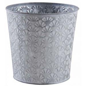 Aubry Gaspard Cache-pot rond en métal patiné relief Cesar