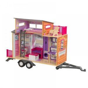 KidKraft Maison de poupée en bois Teeny House avec mobilier inclus