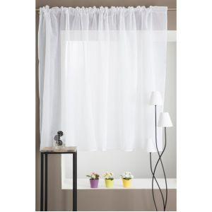 voilage blanc galon fronceur comparer 78 offres. Black Bedroom Furniture Sets. Home Design Ideas